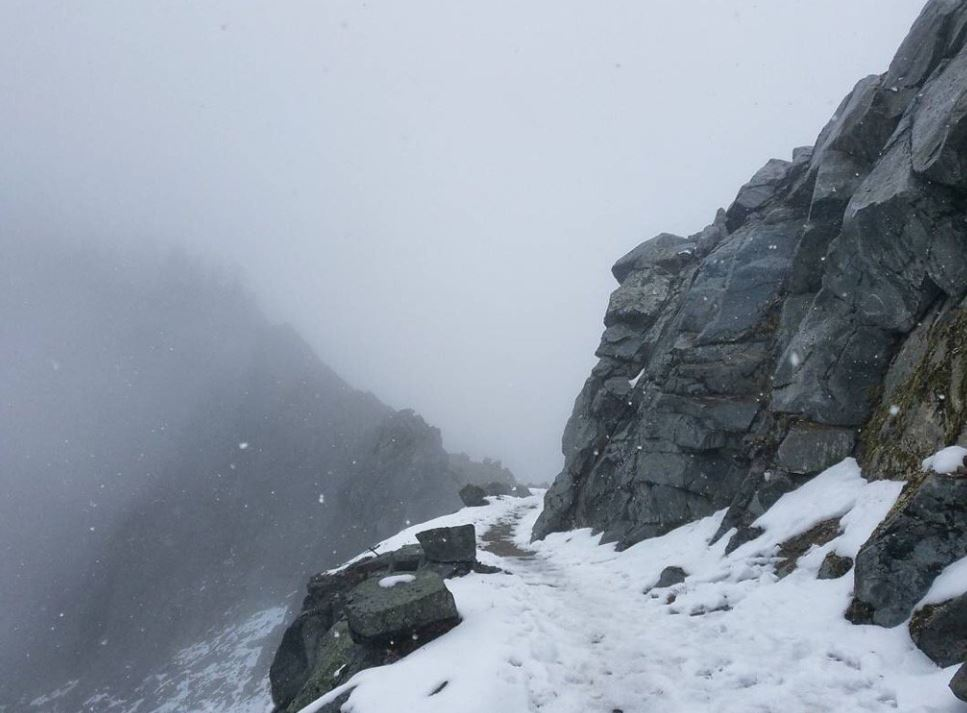 Conditions continued to get worse for the hikers through the weekend.{&amp;nbsp;} (Photo: courtesy of{&amp;nbsp;}Dylan Zitawi)<p></p>