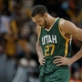 Jazz center Rudy Gobert out with knee injury, return to Sunday playoff game 'doubtful'