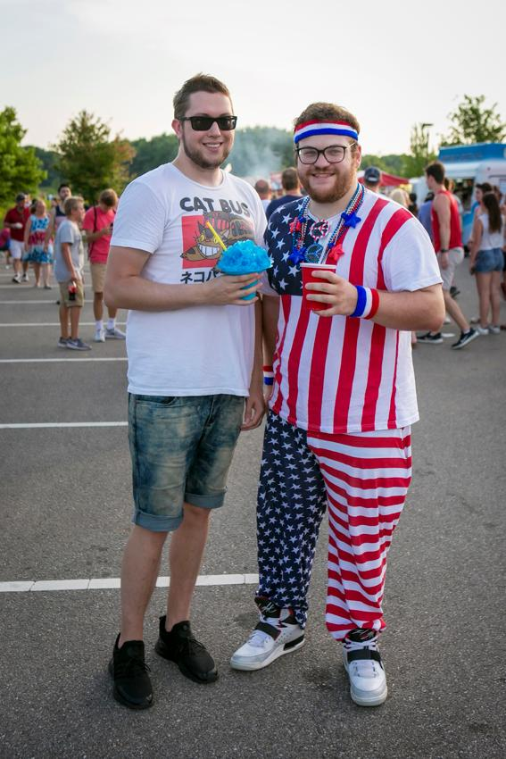 Pictured: Adam Grey and Justin Hanks / Event: Red, White, & Blue Ash (7.4.18) / Image: Mike Bresnen Photography // Published: 8.2.18