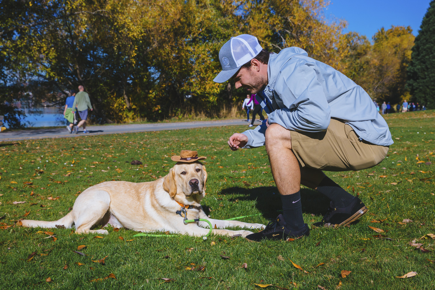 Benson is an 11 month old Labrador Retriever! Isn't he something else?! Benson was born in Maryland and moved cross country to settle down with his family in Issaquah. Benson likes zombies, playing in the rain, beef nibs, hiking Cougar Mountain, sitting on his butt, playing with friends in the park, car rides, peanut butter, watching TV, socks, slippers, and loves to chew. He dislikes baths, being ignored and when anyone is on the sofa and he's not. You can follow Benson's adventures on instagram @sillzygoeswest! The Seattle RUFFined Spotlight is a weekly profile of local pets living and loving life in the PNW. If you or someone you know has a pet you'd like featured, email us at hello@seattlerefined.com or tag #SeattleRUFFined and your furbaby could be the next spotlighted! (Image: Sunita Martini / Seattle Refined).