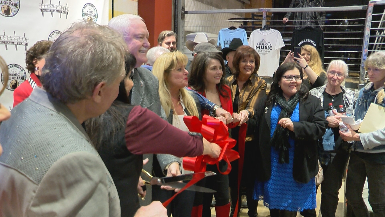 Ribbon cutting at the Bakersfield Music Hall of Fame on January 27, 2017 (KBAK/KBFX)