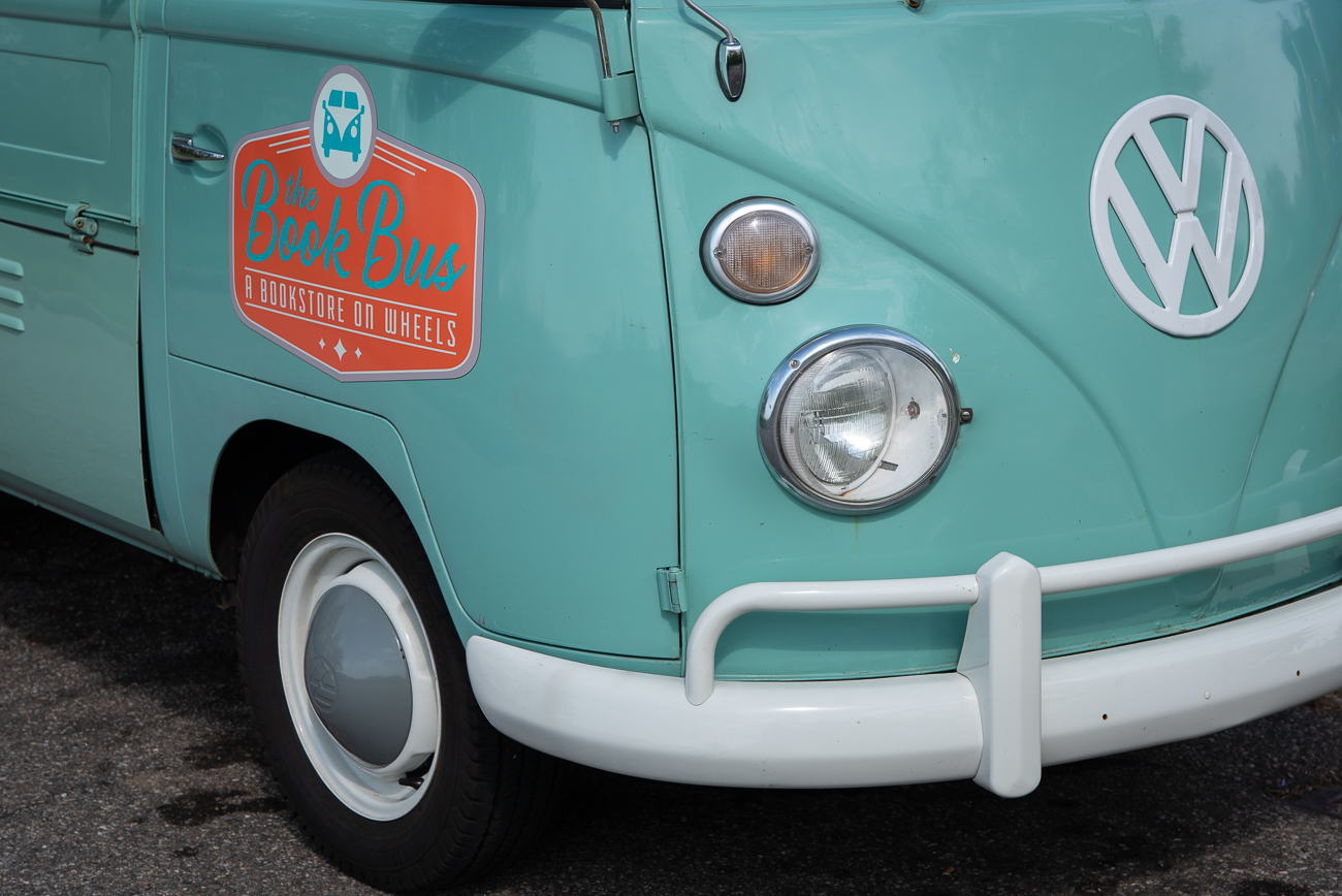 For much of its existence, this teal 1962 VW Transporter worked on a Coloradan cherry farm carrying boxes of fruit from one place to another. Today, that very same truck, now known as the Book Bus, is rolling around Cincinnati with boxes of literature cherry-picked by Melanie Moore. The Book Bus primarily operates at pop-ups when the weather is amenable and at coffee shops when it isn't. Book-seekers can generally find it at events like City Flea in Washington Park, Second Sunday on Main in Over-the-Rhine, and at the Hamilton Flea. To ensure readers are able to find her, she updates Instagram and Facebook with her intended whereabouts as the day progresses. / Image: Phil Armstrong, Cincinnati Refined // Published: 5.20.19