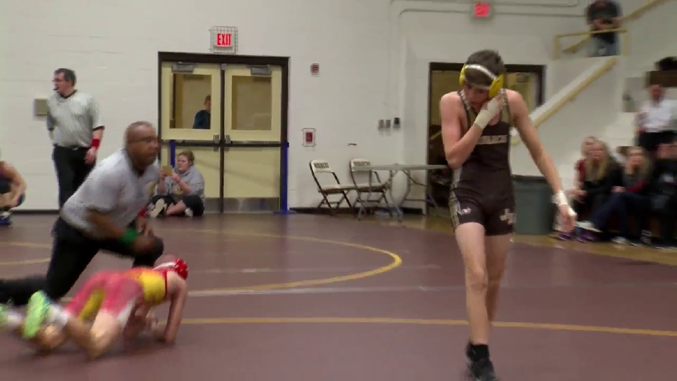2.8.17 Video- 5A, 3A Team Duals at John Marshall- high school wrestling