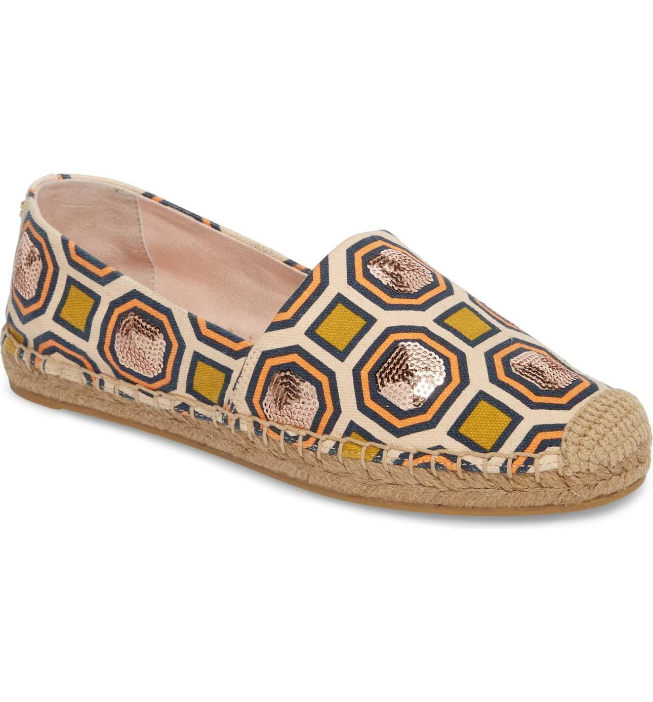 This Cecily Sequin Embellished Espadrille was $198.00 and is{&amp;nbsp;}<p>now: $118.80 Shimmery sequins add even more pop to the chic geo pattern on these Tory Burch espadrilles that go the extra mile.{&amp;nbsp;}</p><p>(Image: Nordstrom)</p>