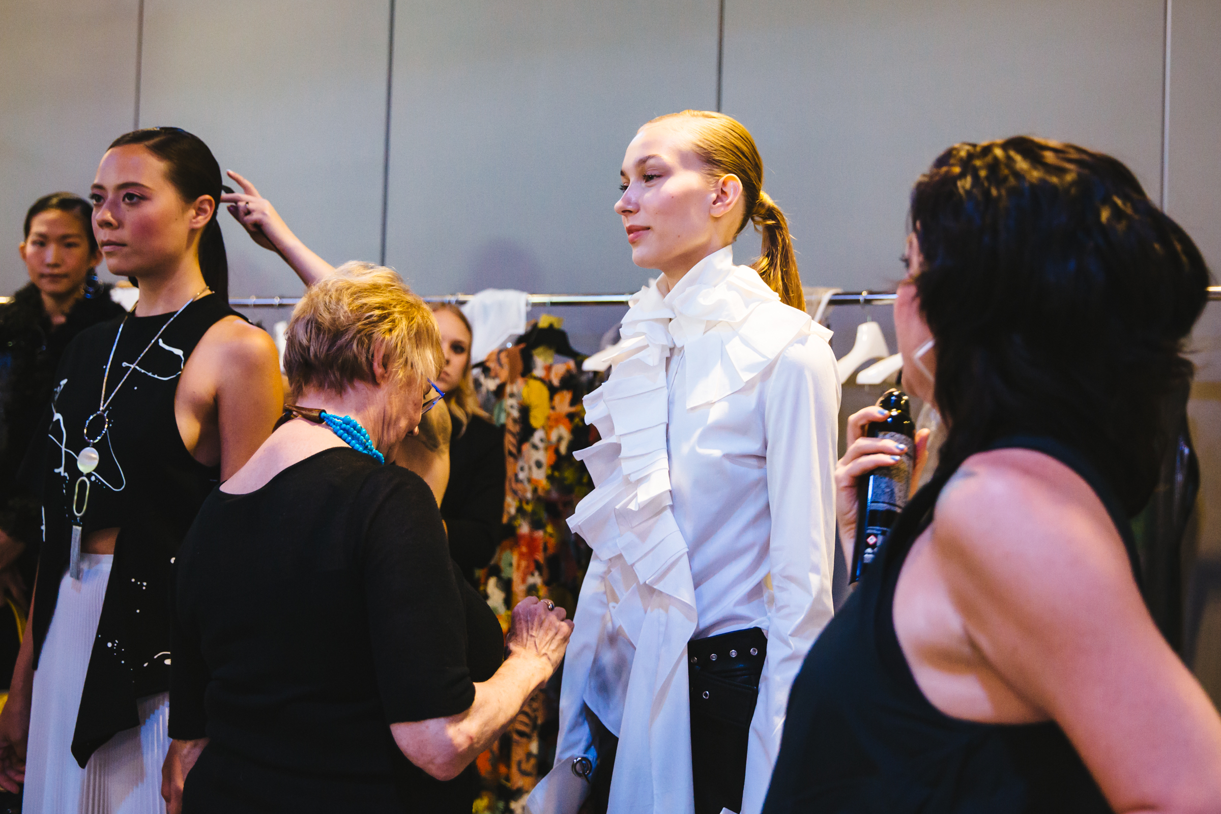 Last night was the annual Nordstrom Designer Preview Fall 2017!  One of the biggest events of the year, the shindig showcases designers new looks for this upcoming fall. This year for the first time, instead of a runway show models participated in interactive vignettes - like an amazing ballet funk performance - and of course a boutique where you can check out pieces from the show and buy them there. We went behind the scenes to watch the magic that goes into getting the girls ready for their model debut! (Image: Sunita Martini / Seattle Refined)