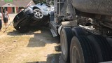 Tractor-trailer involved in crash in Palmview