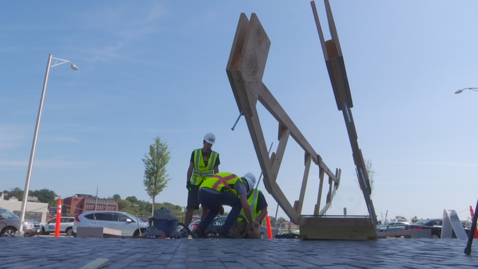 World-renowned artist sculpting recycled masterpiece in Providence
