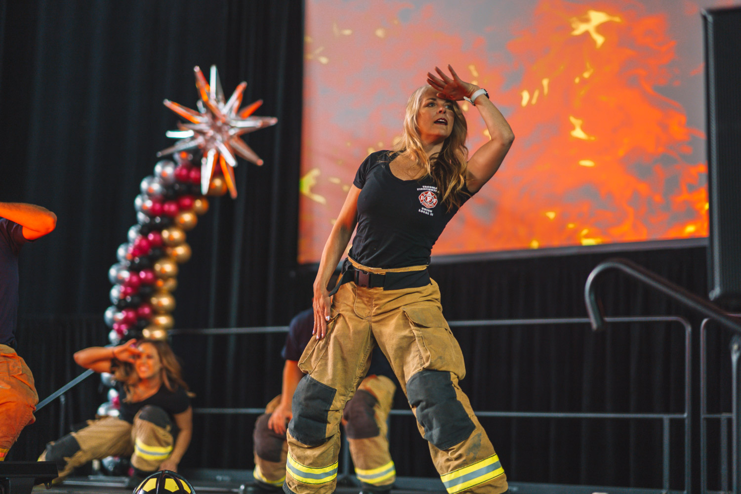 Tacoma Professional Firefighters Local 31 outdid themselves this year at the So NW Women's Show. No, these ladies and gents are not also professional dancers - though their choreographed routine could have had us fooled! These wonderful humans not only came to entertain very excited attendees on both days of the show - but as of last count, raised over $3,000 in donations to YWCA of Pierce County and The FORGE Foundation. Great job guys! (Image: Daniel Macadangdang / Seattle Refined)