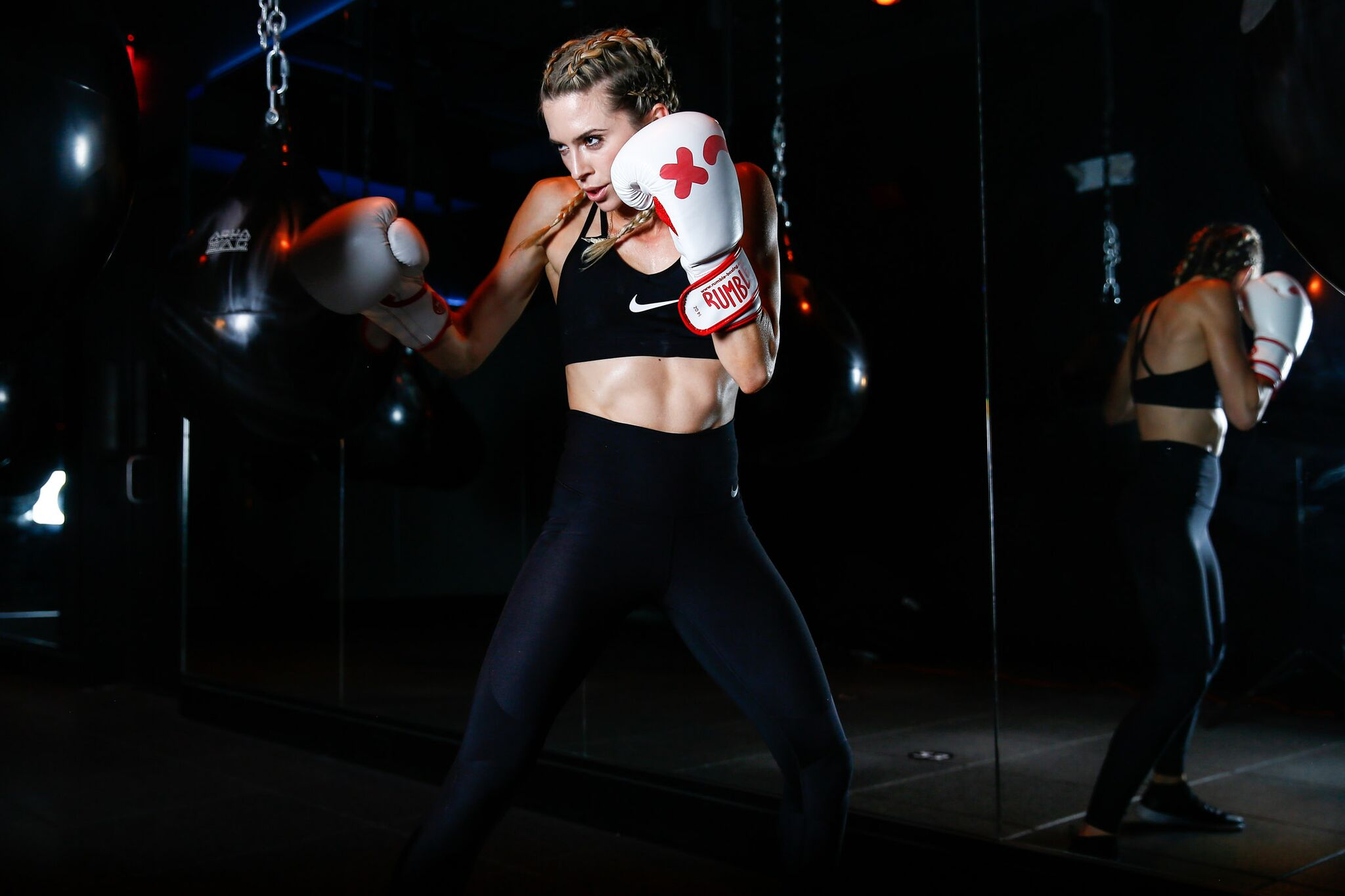 Rumble{ }is a 45-minute, 10-round HIIT class combining boxing and strength training. (Image: Trapp Photos/ Courtesy Rumble)