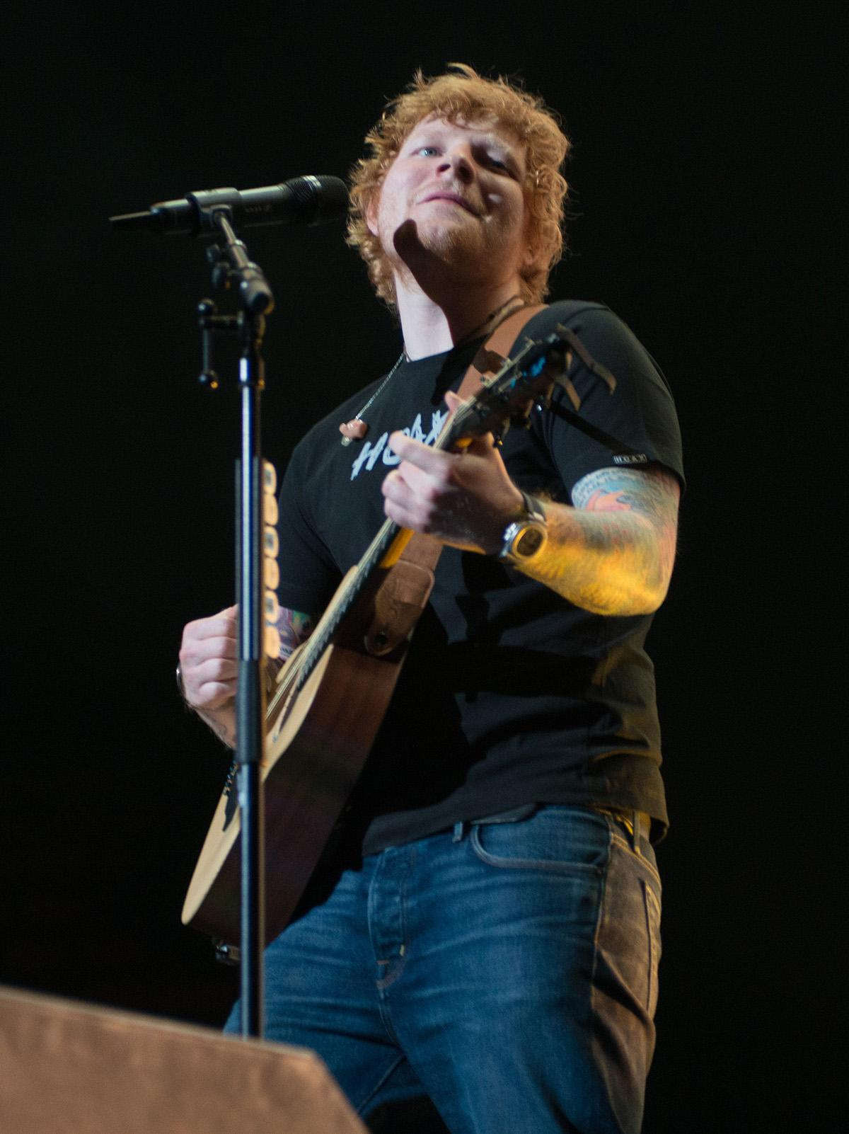 Pop sensation Ed Sheeran played a sold-out show at Portland's Moda Center Sunday, packed with hits that span his three album career. The English singer-songwriter is touring in support of his latest record, 'Divide.' (Photo taken by Tristan Fortsch/KATU News on July 30, 2017)
