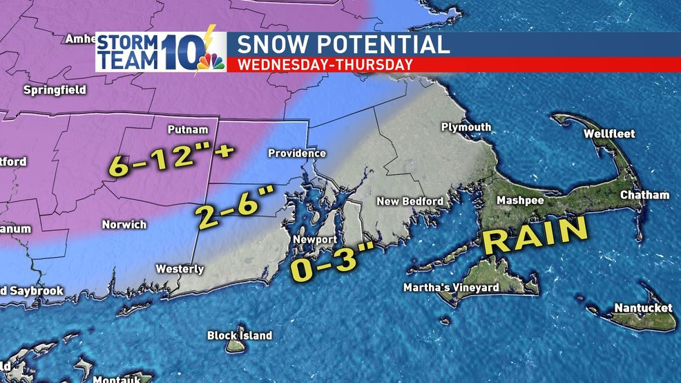Wednesday storm: Snow west of 95, rain east
