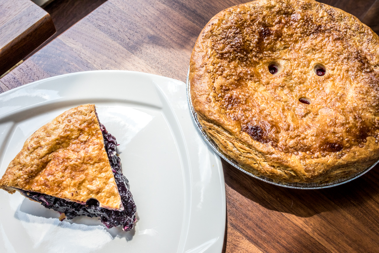 A slice of Blueberry Pie and a Whole Cherry Pie / Image: Catherine Viox{ }// Published: 9.16.20