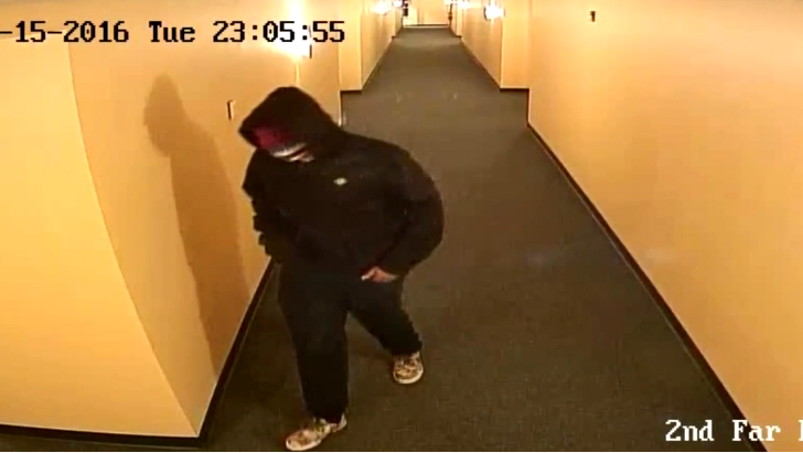 Portland police have surveillance images of a person-of-interest that show him leave the complex at 88 Gilman Street the night Anderson was killed. (Portland Police Department)