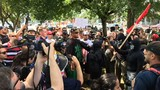Opposing groups clash in violent protests near downtown Portland