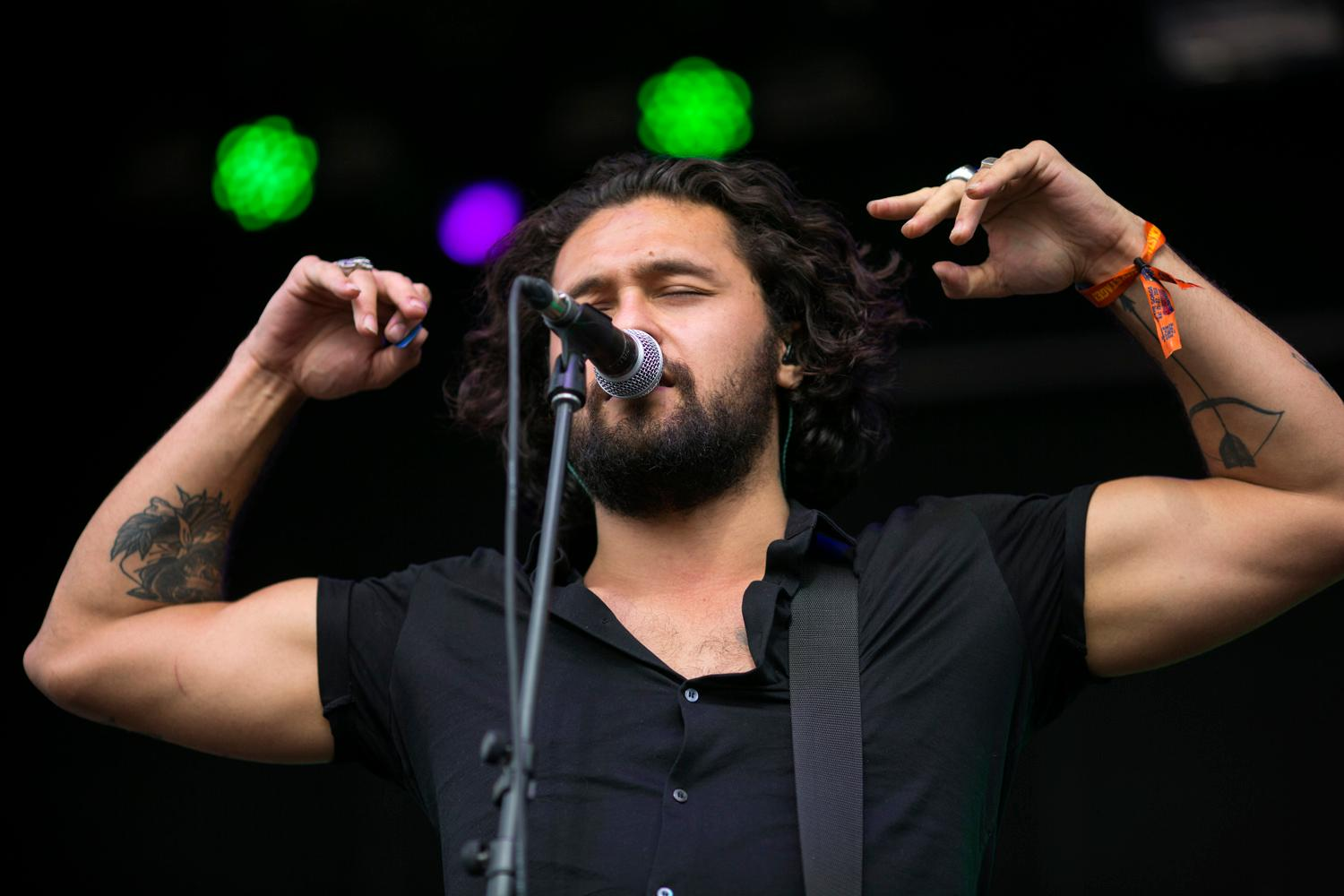 Gang of Youths performed on the first day of the annual Sasquatch! Music Festival. The three-day festival runs throughout the Memorial Day Weekend, from May 25-27, 2018. (Sy Bean / Seattle Refined)