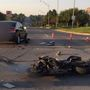 Motorcyclist breaks leg in morning Omaha crash