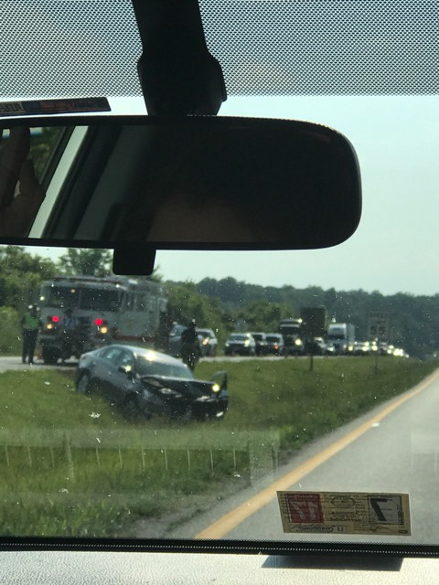 Virginia 511 said traffic was backed up due to a multiple vehicle accident on Turkey Foot Rd. (Photo: WSET)