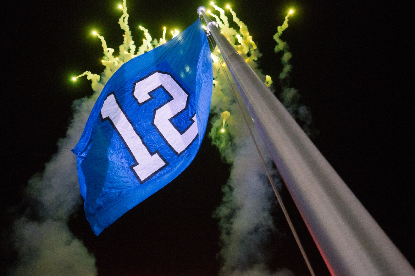 "As part of the Color Rush series, the Seattle Seahawks, Sea Gals and fans all dressed in bright neon for their, ""Action Green"" Color Rush uniform. The end zones, towels and more were all in bright green for the Seahawks game against the LA Rams. (Image: Joshua Lewis / Seattle Refined)"