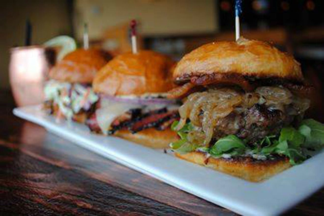 If you love sliders, then you have to visit Cask & Trotter. They've got eleven, ELEVEN, different kinds of sliders including Bacon Gorgonzola, Buffalo Chop and Smoked Pastrami, Pulled Chicken and Portobello. They're perfectly portioned and you can add a delicious side for just a few extra bucks. (Image courtesy: Cask & Trotter Facebook page)