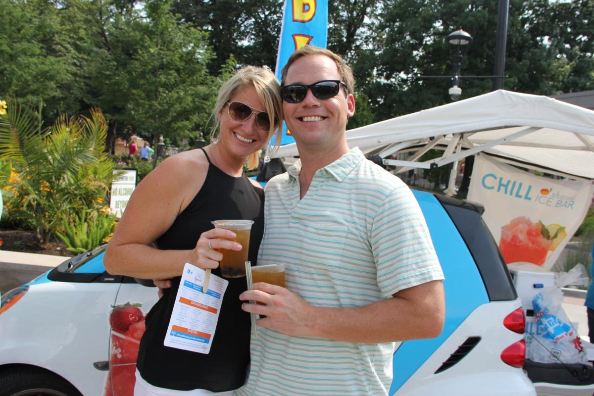 Heather & Billy Miller, refreshment by Boba Cha / Taste of OTR, Saturday July 26, Washington Park (Image: Clay Griffith / Cincinnati Refined)