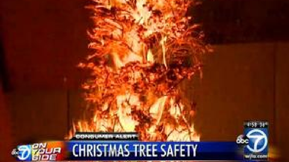 Don't Let Your Christmas Tree Catch Fire WJLA - Christmas Trees On Fire