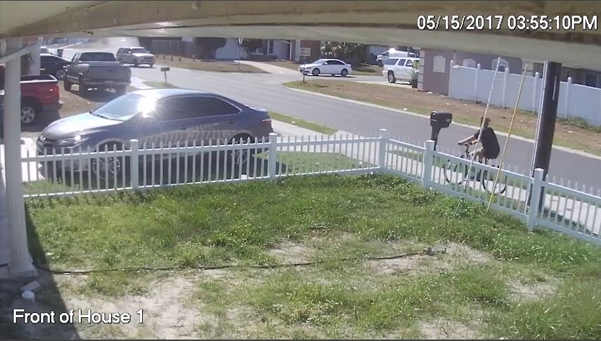 The Pasco Sheriff's Office released video of a hit-and-run in Holiday.  Image & Video courtesy: Pasco Sheriff's Office Facebook via Jacki Kenney Lilly Facebook