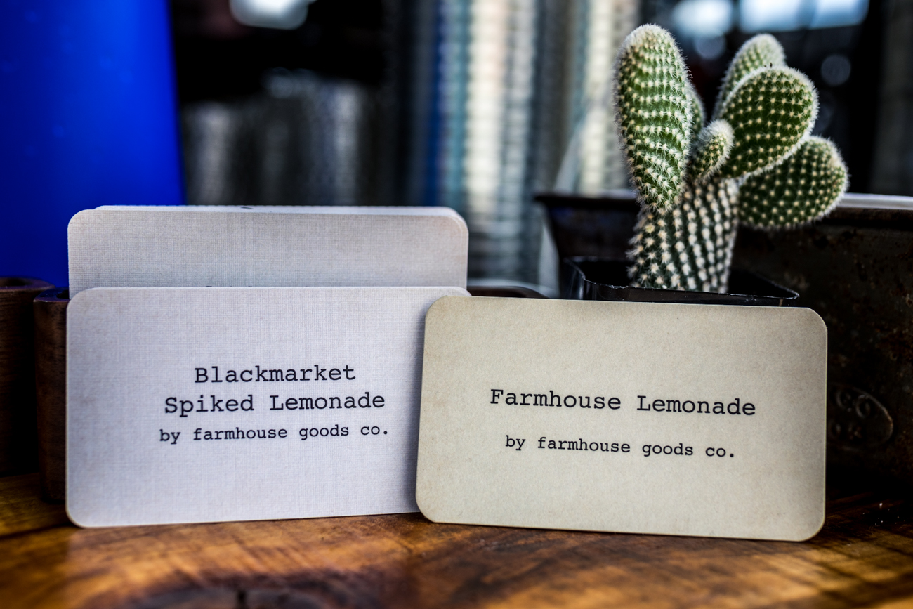 Farmhouse Lemonade serves fresh-squeezed lemonades with blends of fruit infusions you can add into the drinks. / Image: Catherine Viox // Published: 6.25.20