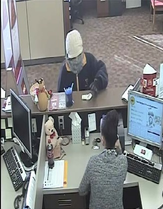 Photo from surveillance video from a different angle shows the suspect in the bank robbery. (Charleston Police Department)