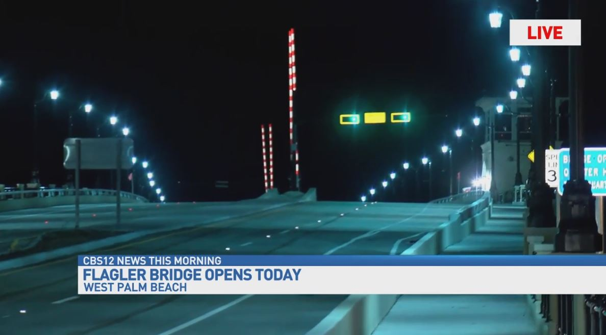 flagler memorial bridge reopens wtvx