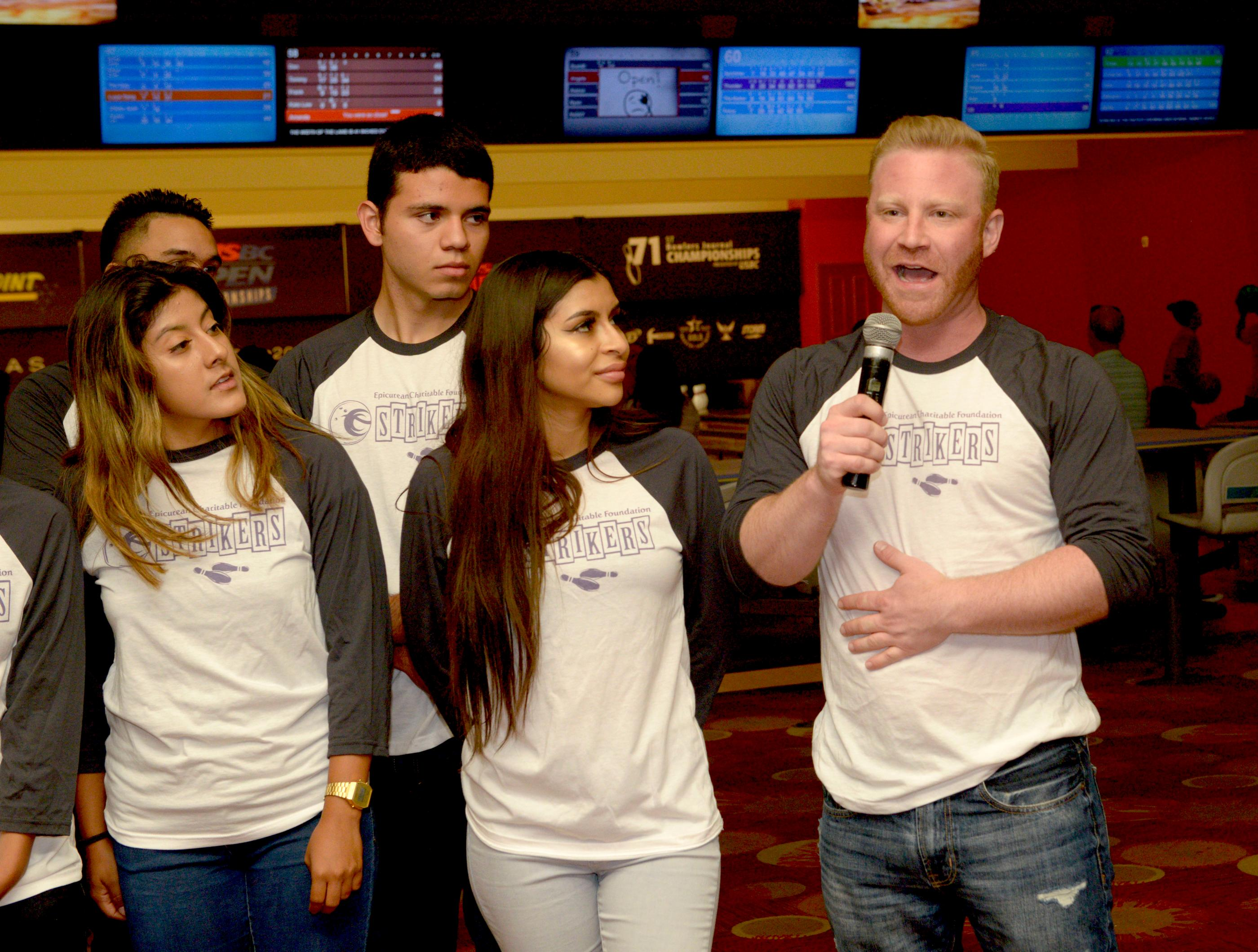 Epicurean Charitable Foundation hosts Strikes for Scholarships Bowling Tournament at the South Point Hotel & Casino. This event provides scholarships and unique mentorships for local students passionate about pursuing a career in hospitality or culinary arts. Sunday, August 27, 2017. [Glenn Pinkerton/Las Vegas News Bureau]