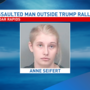 Woman arrested for assault outside Trump rally