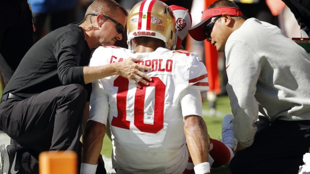 new concept 0e17f 03a37 49ers Garoppolo to miss remainder of season with torn ACL