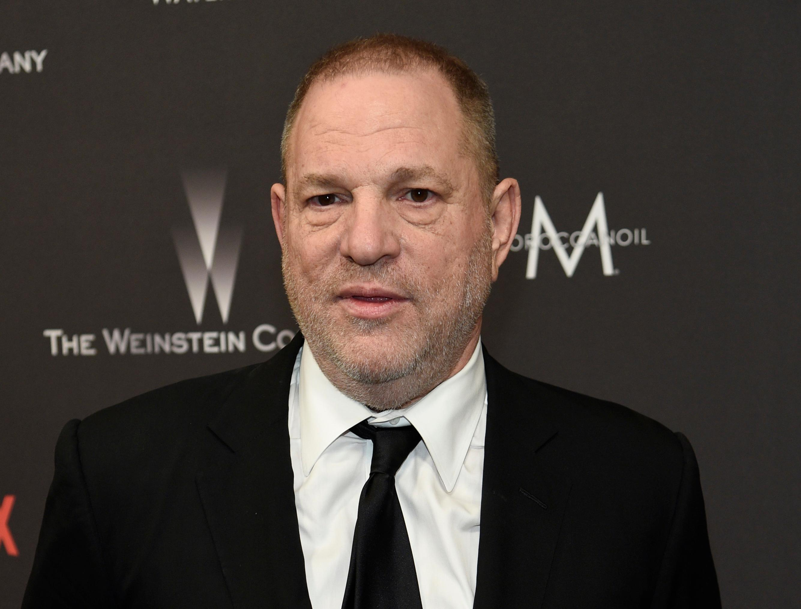FILE - In this Jan. 8, 2017, file photo, Harvey Weinstein arrives at The Weinstein Company and Netflix Golden Globes afterparty in Beverly Hills, Calif. (Photo by Chris Pizzello/Invision/AP, File)