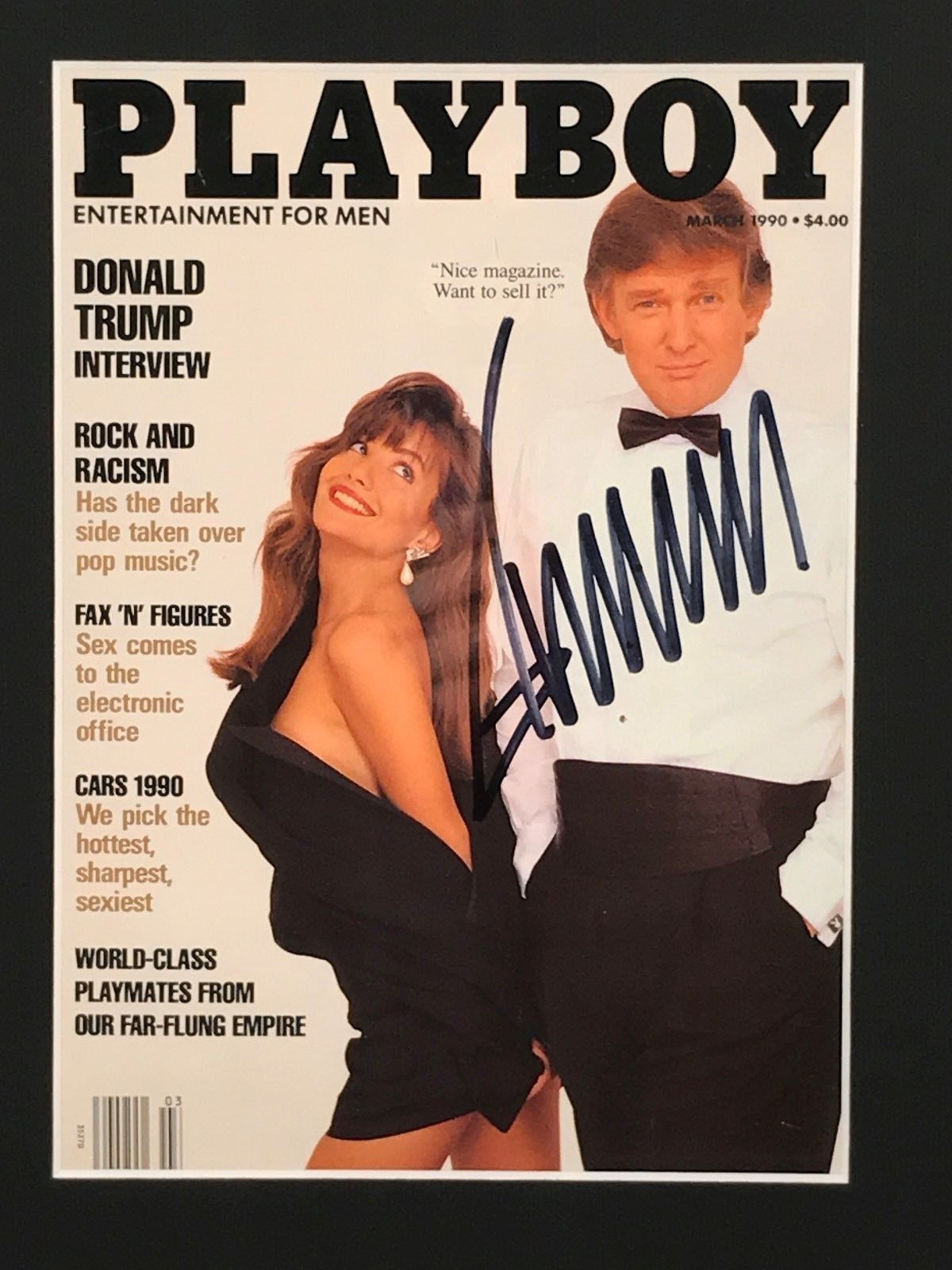 Trump signed Playboy magazine for sale on eBay. (Photo: Screengrab from eBay)