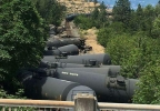 Tanker train derailment near Mosier - Photo tweeted from Mid-Columbia Fire and Rescue.jpg