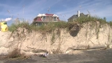 While inland areas deal with floodwaters, beaches battle severe erosion from storm