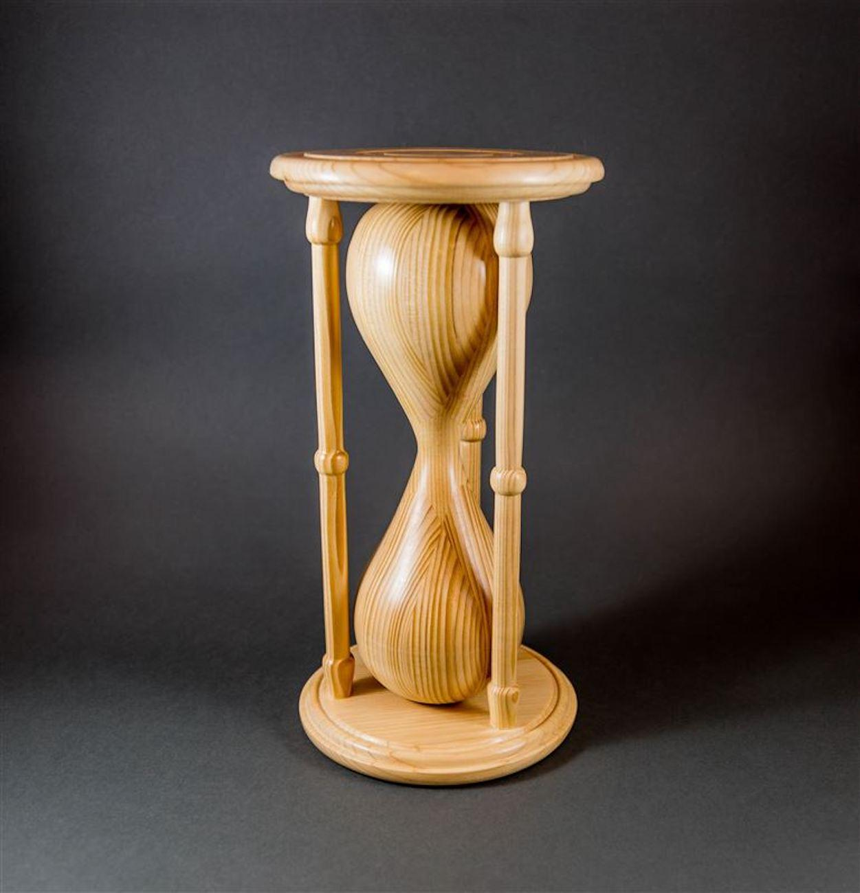 """Got No Time"" by Beverly Connelly was made from a standard pine 2x4 as a challenge to the turners to use a 2x4 in any way they wanted. / Image courtesy of the Ohio Valley Woodturners Guild // Published: 4.18.19"
