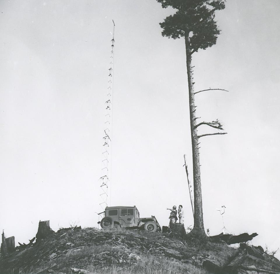 Image from Oregon Department of Forestry display at 2014 Oregon State Fair. Images collected by department's Forest History Center in Salem, Ore.