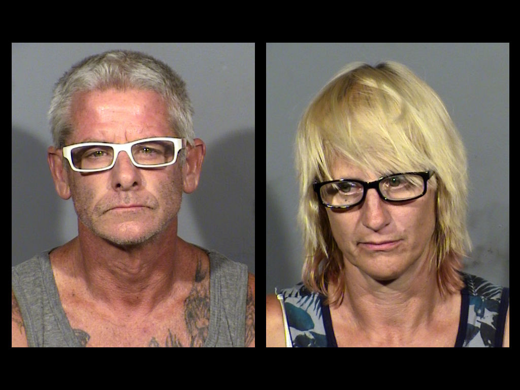 Blaine Ward and Cherlene King were arrested in connection to a murder investigation that occurred near the intersection of Cypress Trail and Coran Lane (LVMPD)