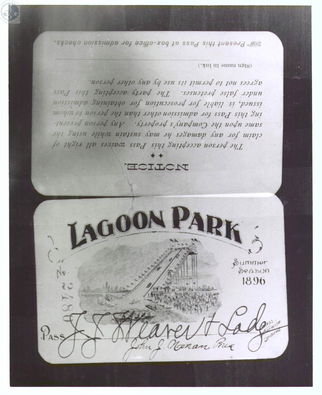 "From 1895 to 1918, one of the nation's largest amusement parks operated in Ludlow, Kentucky. The Ludlow Lagoon Amusement Park sat on an 85-acre, man-made lake where thousands of visitors per day enjoyed swimming, boating, motorcycle racing, dancing, carnival games, animal shows, a ""Scenic Railway"" roller coaster, and performances in one of the nation's first air-conditioned theaters. / Image courtesy of the KY Post via the ""Faces and Places: Northern Kentucky Photographic Archives"" of the Kenton County Public Library // Published: 6.5.19"