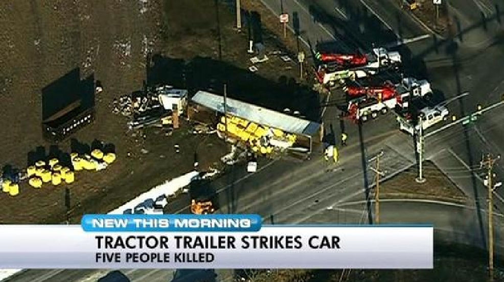 Five in Va  family killed in crash with tractor trailer in