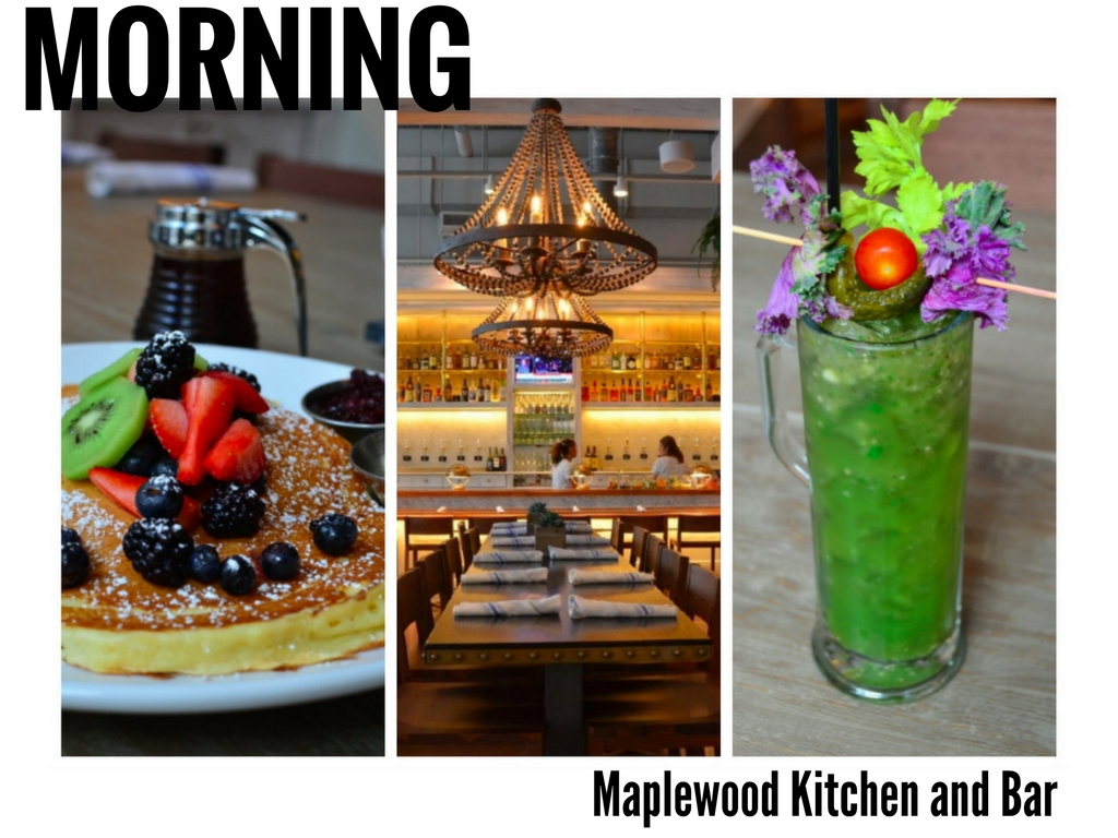 Hmm... All that strollin' has got us feeling a bit peckish. Good thing one of our newest culinary faves is an easy hop-skip up from the river. Let's head into Downtown for one of the best breakfast/brunch experiences in town: Maplewood Kitchen and Bar. / The restaurant is located at 525 Race St -- 45202. // IMAGE: Leah Zipperstein, Cincinnati Refined