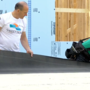 Mayor Corbett helps out Habitat for Humanity