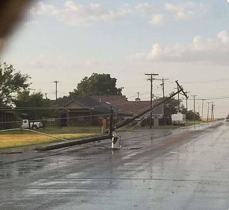 Storm damage in Pampa. (Photo courtesy: Harrell Conners III)