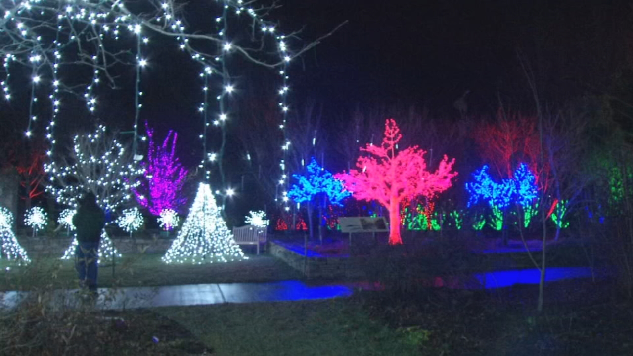 The North Carolina Arboretum's Winter Lights exhibit has become a holiday tradition in Asheville. For the past several years, 500,000 lights illuminate the gardens and turn it into a winter wonderland. (Photo credit: WLOS Staff)