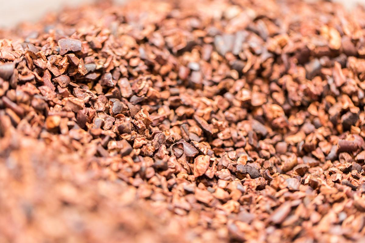 Ground cacao nibs  --  Image: Daniel Smyth Photography