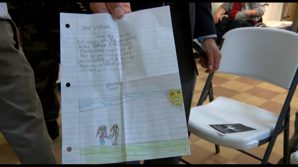 second grader hand delivers thank you letters to unsuspecting veterans