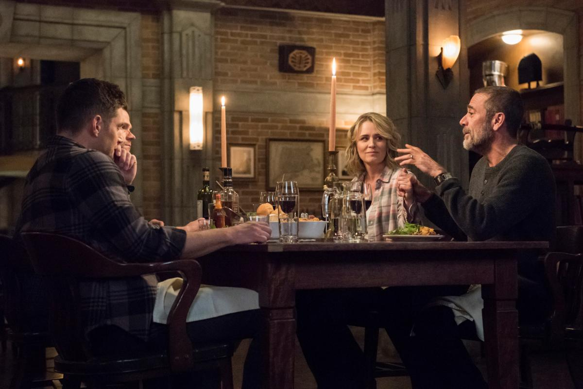 "Supernatural -- ""Lebanon"" -- Image Number: SN1413D_0114b.jpg -- Pictured (L-R): Jensen Ackles as Dean, Jared Padalecki as Sam, Samantha Smith as Mary Winchester and Jeffrey Dean Morgan as John Winchester -- Photo: Dean Buscher/The CW -- �© 2019 The CW Network, LLC. All Rights Reserved."