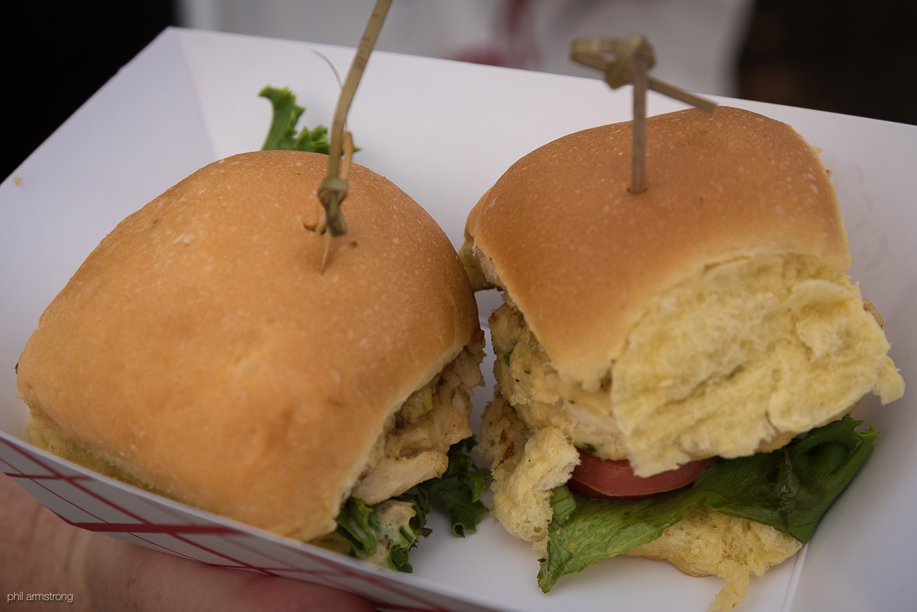Crab sliders from Prime / Image: Phil Armstrong, Cincinnati Refined // Published: 8.15.17