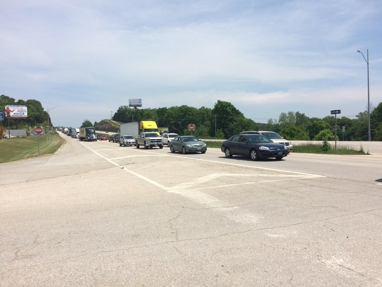 Crews working a serious accident just west of Jefferson City. The accident at around 12:30 p.m. near the intersection of U.S. 54 and Goller Road. KRCG 13 photo.